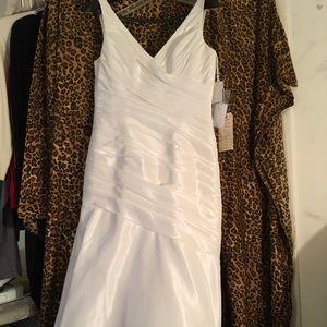 Mori Lee ivory wedding gown